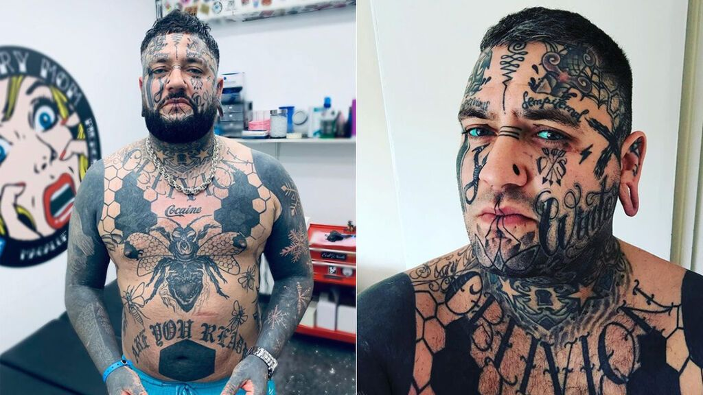 Un hombre se tatúa el cuerpo y la cara en homenaje a su hija fallecida