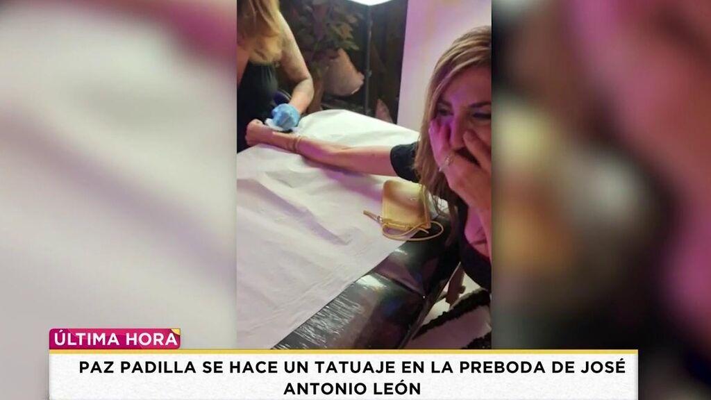 Paz Padilla se tatúa en la boda de José Antonio León