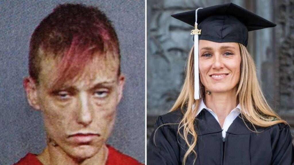 De consumir drogas a los 6 años a graduarse en la universidad: el drástico cambio de vida de Ginny Burton