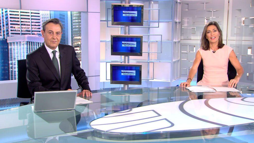 Con José Ribagorda y Ángeles Blanco Informativos Telecinco 2021 Mediodía 13/06/2021
