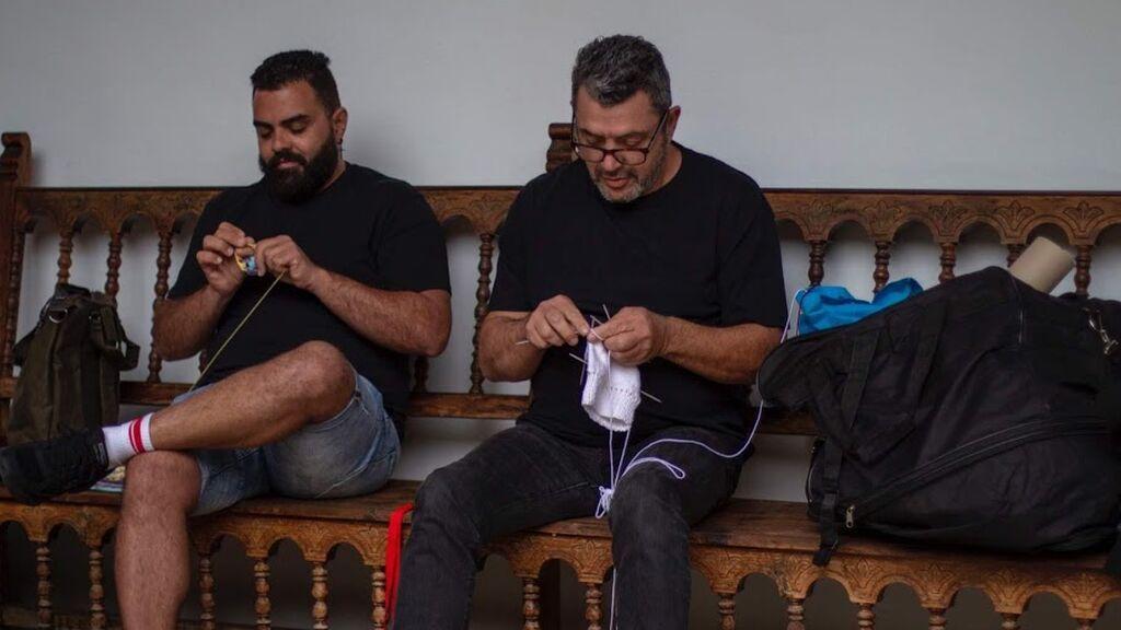 Hombres tejedores de canarias. Festival de la Lana