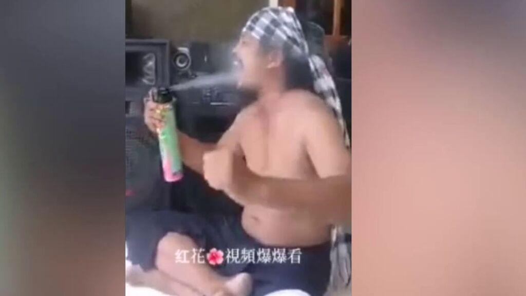 Muere tras grabarse inhalando insecticida