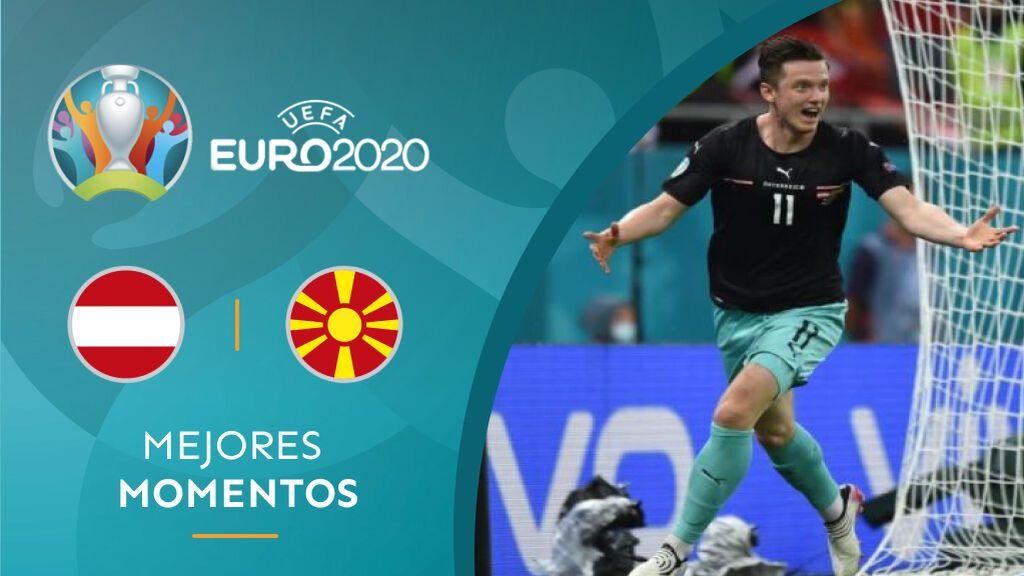 La Austria de Alaba vence a una histórica Macedonia del Norte en el grupo C de la Eurocopa (3-1)