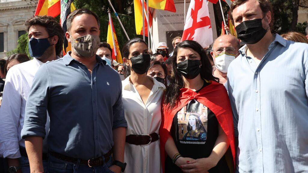 Santiago Abascal en la manifestación contra los indultos de Colón