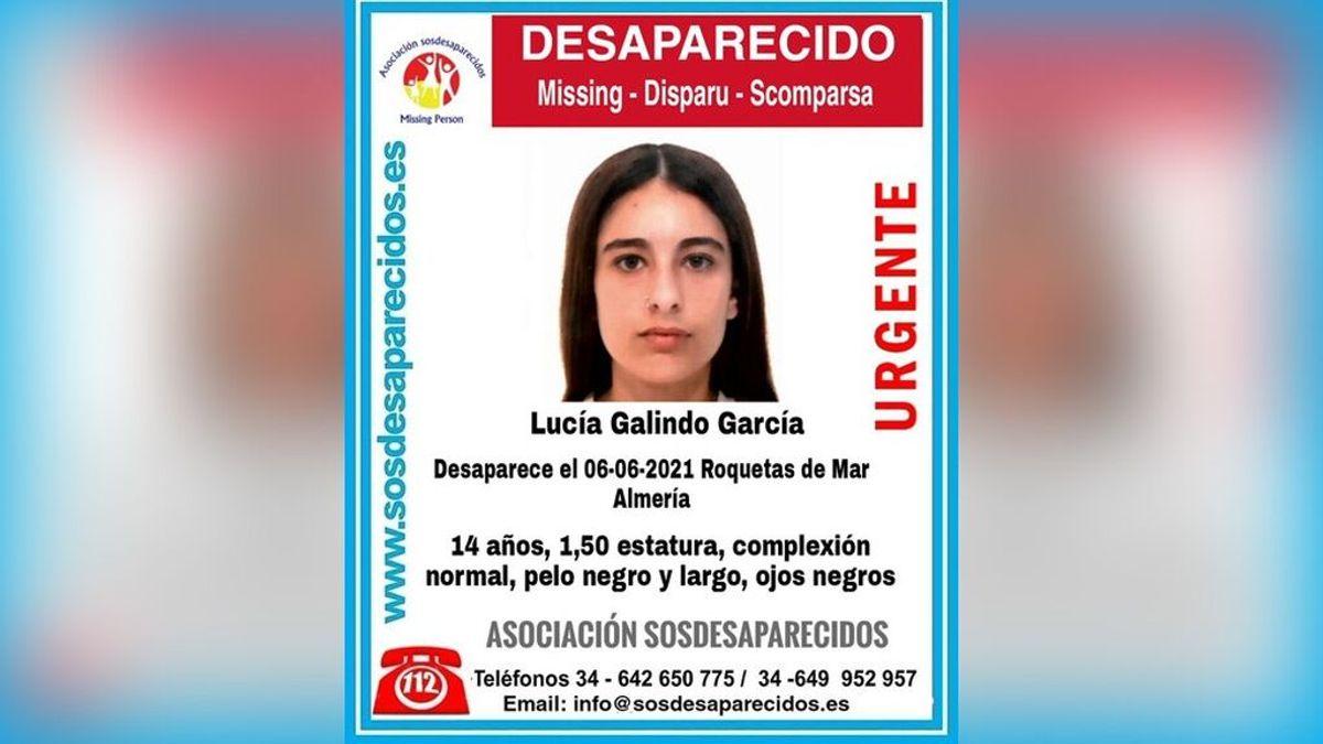Buscan a Lucía Galindo García, una menor de 14 años desaparecida en Roquetas del Mar, Almería