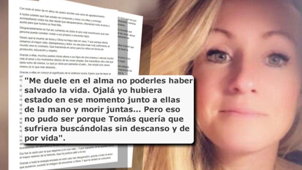 """La carta de Beatriz Zimmermann: """"Como madre me duele en el alma no poderles haber salvado la vida"""""""