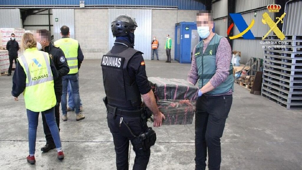 Incautados 1.400 kilos de cocaína ocultos en contenedores en el Puerto de Bilbao