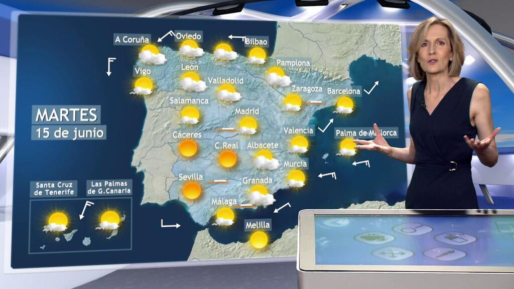Una decena de provincias, en aviso por tormentas y calor: el tiempo para el martes en España