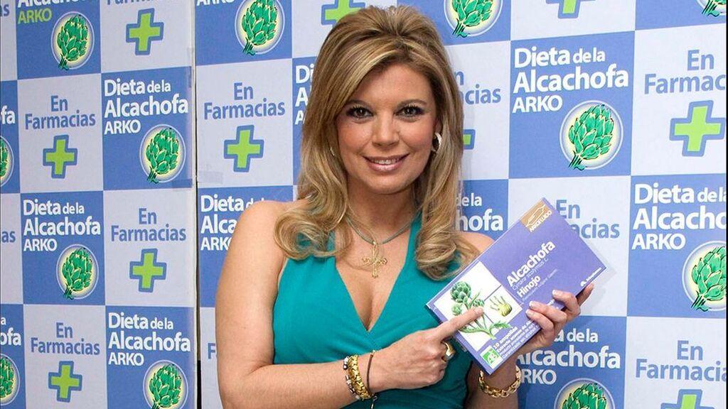 Terelu Campos, en la presentación de la dieta de la alcachofa