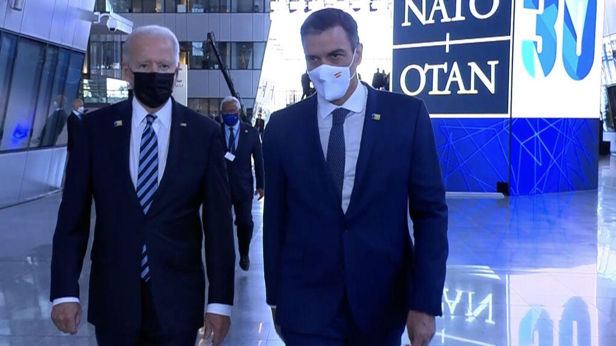 El choque de versiones sobre su encuentro con Biden empaña el paso de Sánchez por la cumbre de la OTAN