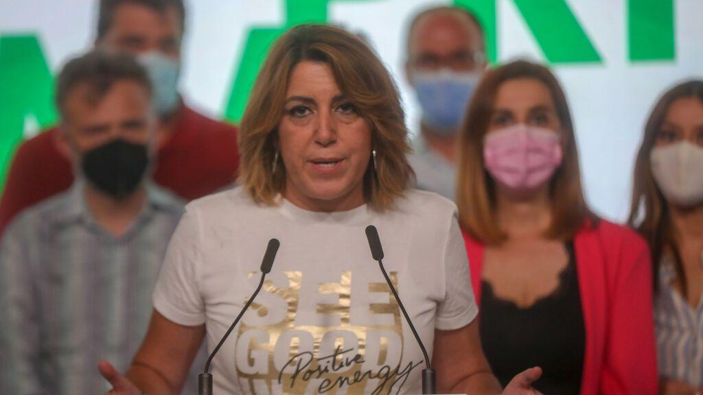 Susana Díaz tras perder las primarias