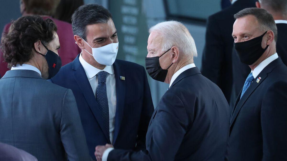 """Pedro Sánchez tras su paseo con Biden: """"No tengo cronometro, era una primera toma de contacto"""""""