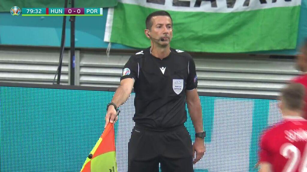 Portugal gol anulado a Hungría Schon