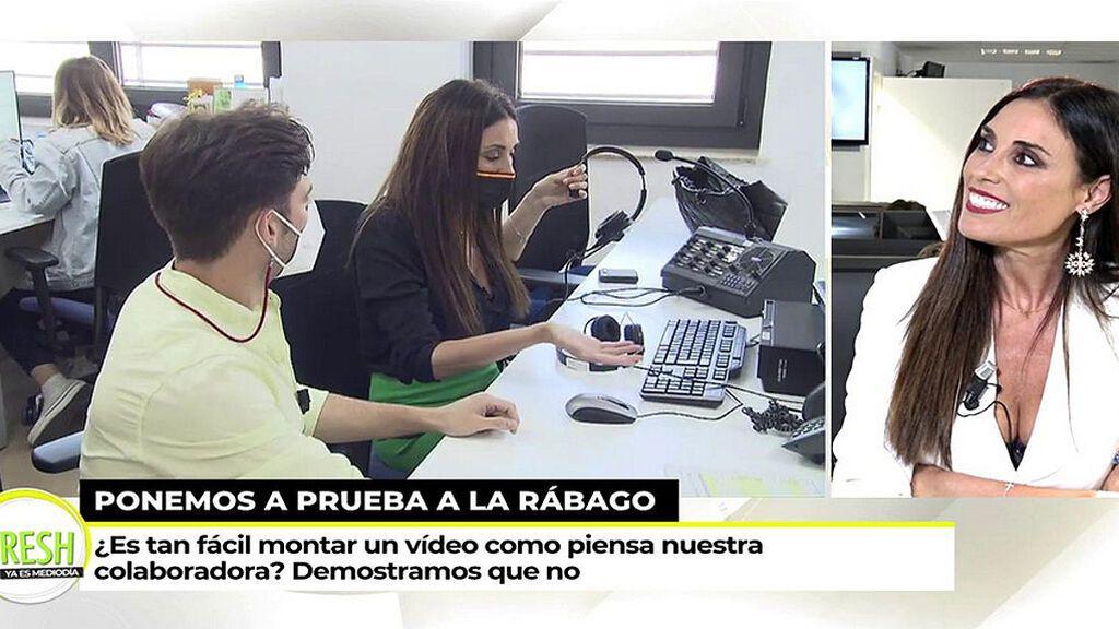 """La redacción de 'Ya es mediodía' reta a Isabel Rábago: """"¿Es capaz de montar un vídeo?"""""""