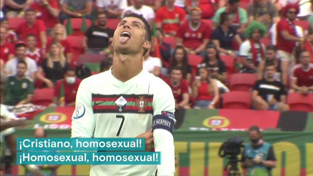 """Los cánticos de los hinchas de Hungría a Cristiano Ronaldo: """"Cristiano, homosexual"""""""