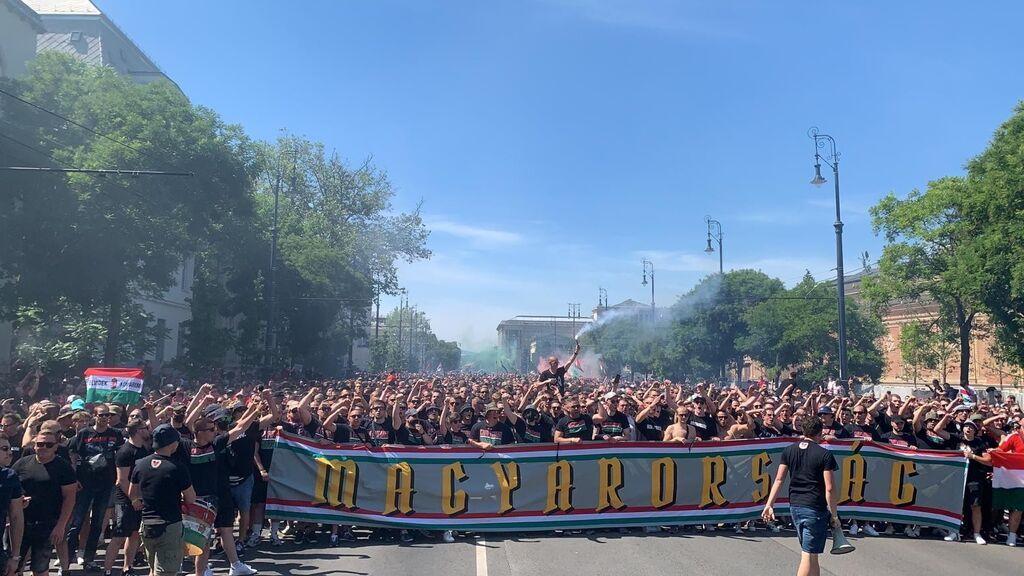 68.000 personas, sin mascarillas y sin distancias llenarán el Puskás Aréna en el Hungría - Portugal