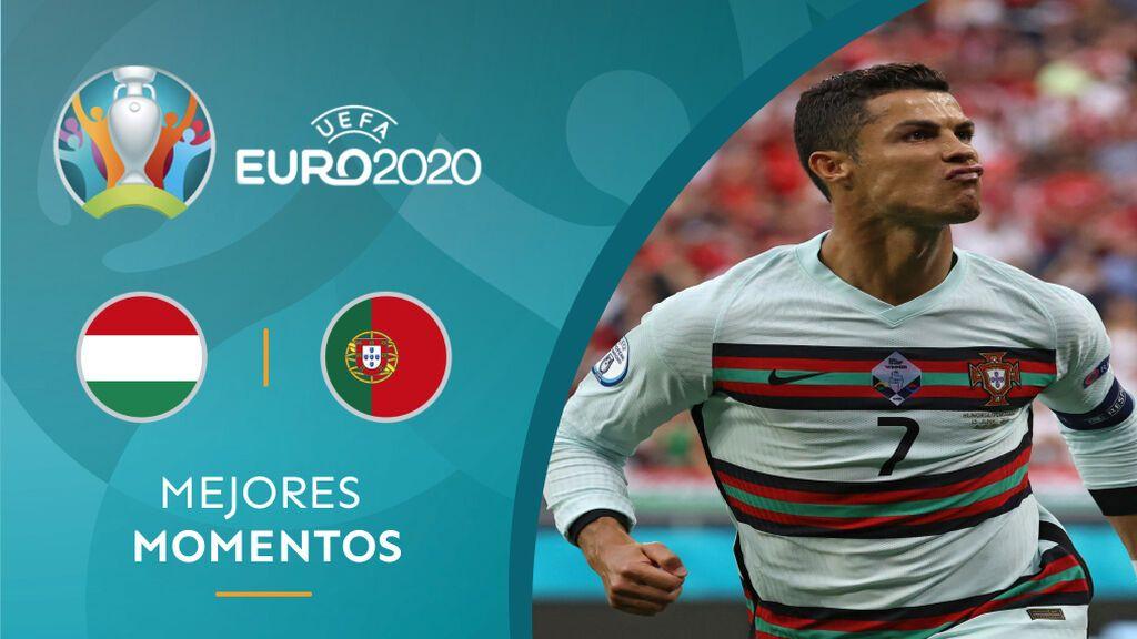 Portugal vence a Hungría en ocho minutos y Cristiano se convierte en el máximo goleador de las Eurocopas (0-3)