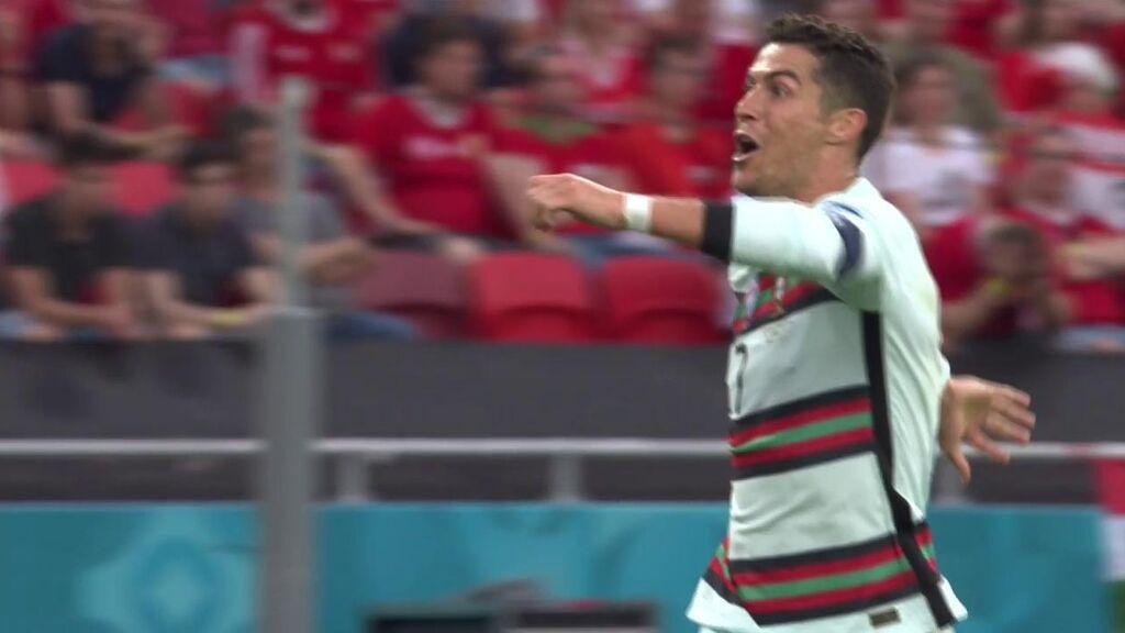 Tercer gol de Cristiano Ronaldo ante Hungría