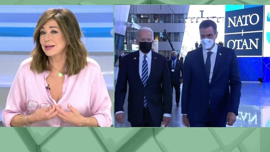 """Ana Rosa no da crédito con el asalto de Sánchez a Biden: """"Es que ni lo miró"""""""