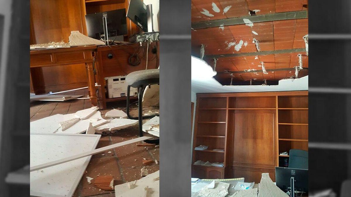 """Los juzgados de Illescas: un falso techo desplomado y víctimas de violencia de género en un cubículo que """"parece un calabozo"""""""