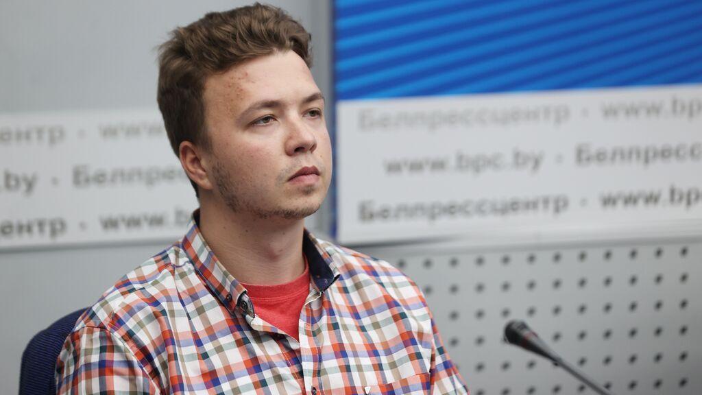 Roman Protasevich, encarcelado en Minsk.