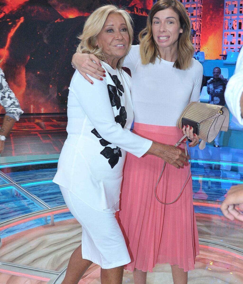 Mila y su hija en Telecinco