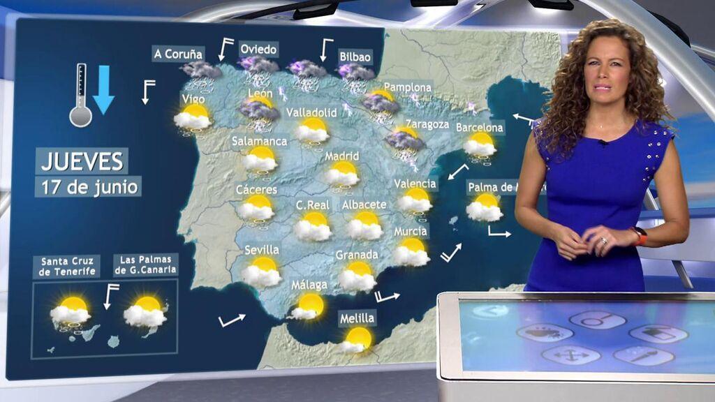 ¡Alto riesgo por las tormentas! El tiempo para el jueves en España