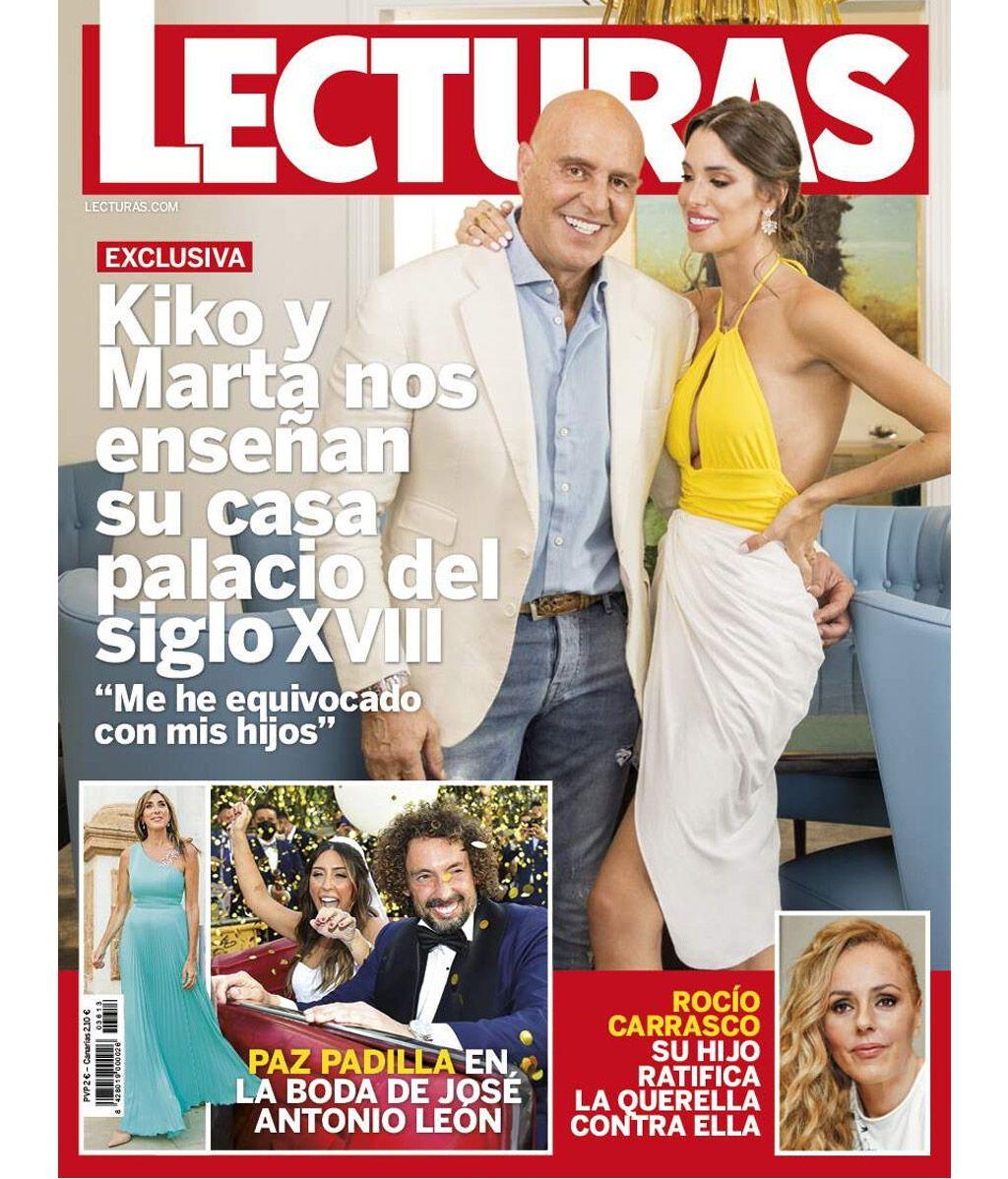 Kiko Matamoros y Marta López Álamo en la portada de la revista 'Lecturas'