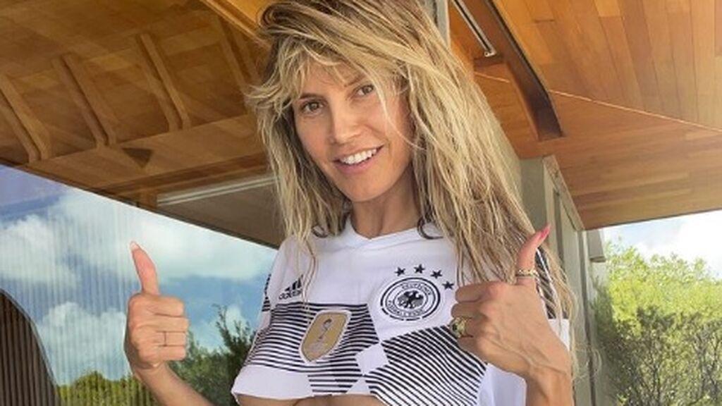 Heidi Klum anima con todo a la selección de Alemania en la Eurocopa