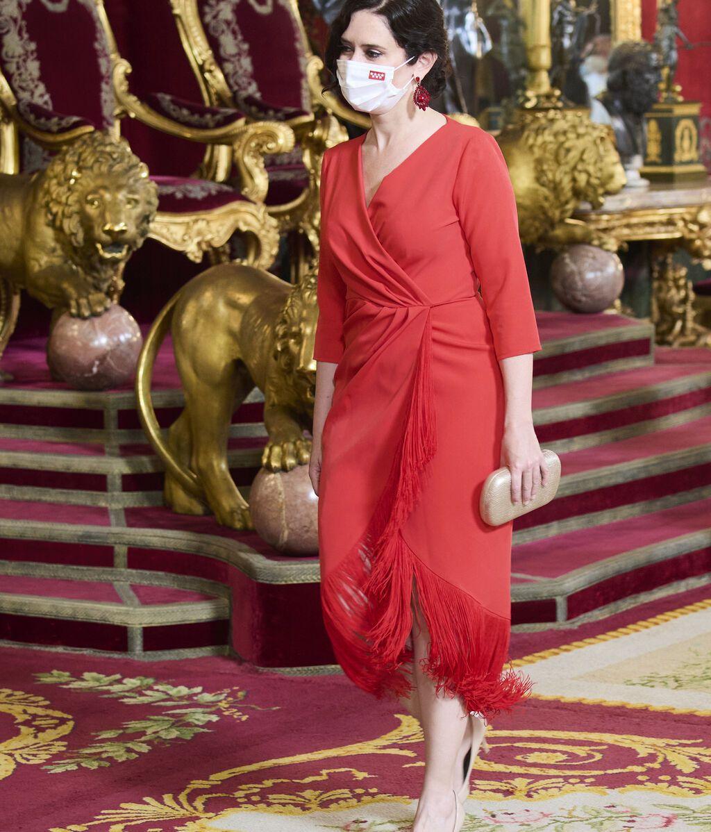 Isabel Díaz Ayuso, en la cena con los Reyes en el Palacio Real