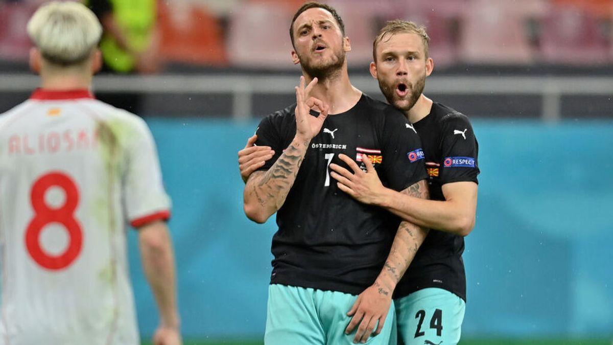 La UEFA sanciona a Arnautovic con un partido por insultar a un rival en el Austria-Macedonia del Norte