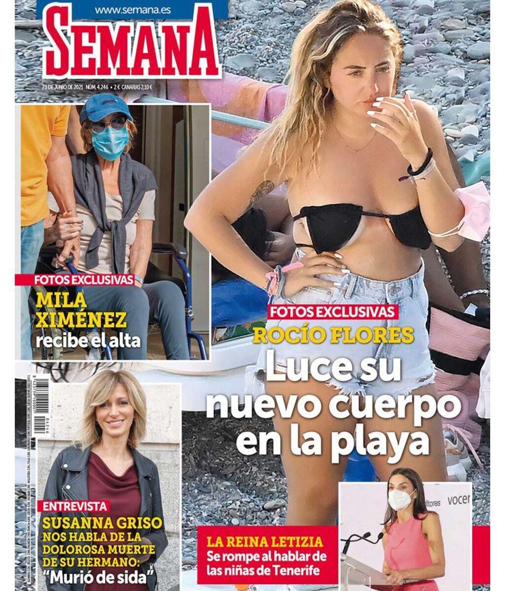 Rocío Flores en la portada de la revista 'Semana'