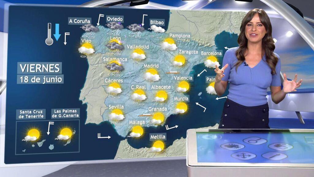 Las tormentas van a menos pero no se despiden: el tiempo que hará el viernes en España