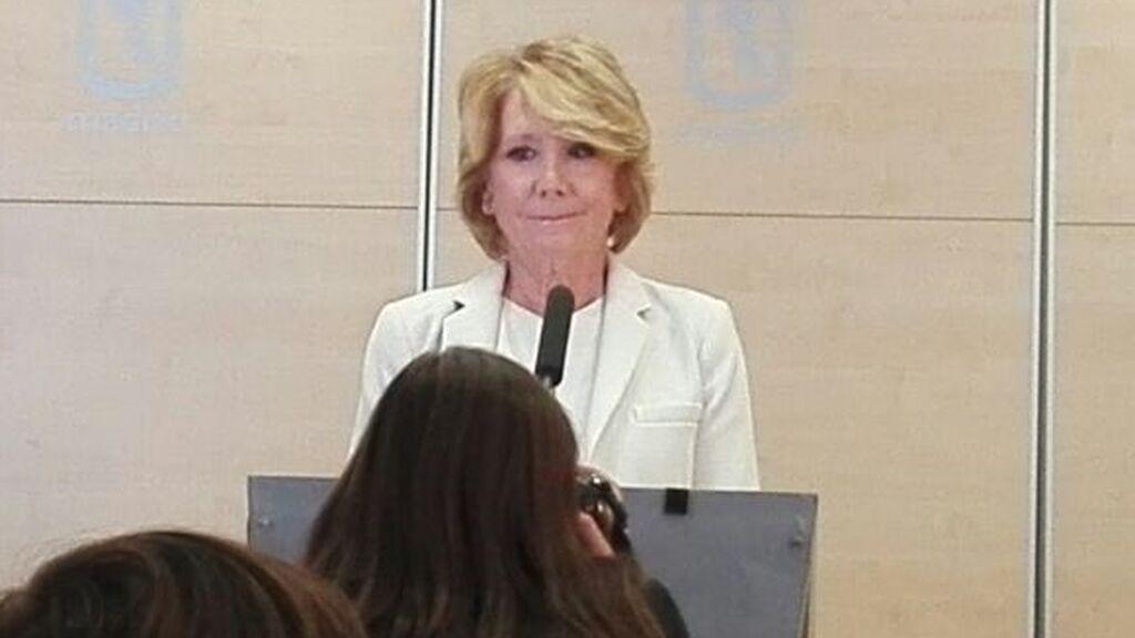 Esperanza Aguirre dimitió como portavoz en el Ayuntamiento de Madrid en 2017