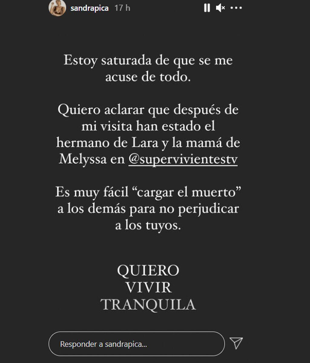 La respuesta de Sandra Pica / @sandrapica