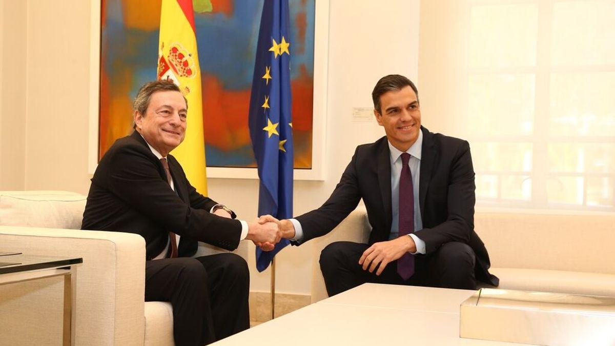 Draghi, el guía de la recuperación europea, acude a la llamada de Sánchez