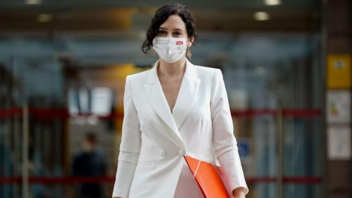 Isabel Díaz Ayuso acude al debate de su investidura en la Asamblea de Madrid