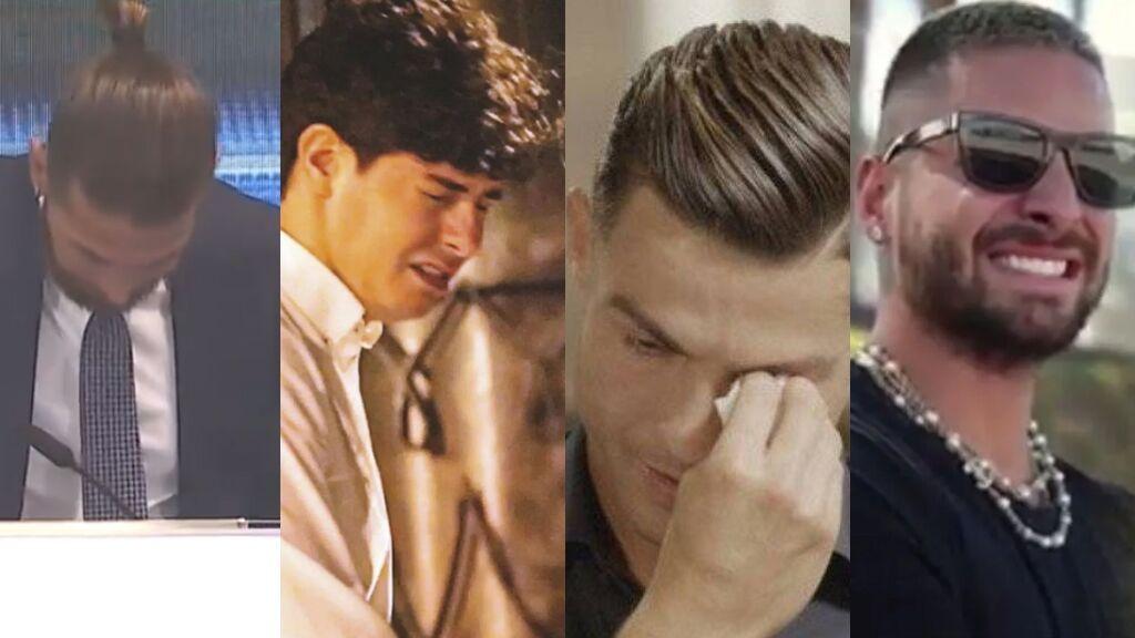Sergio Ramos y otros famosos que han llorado en público