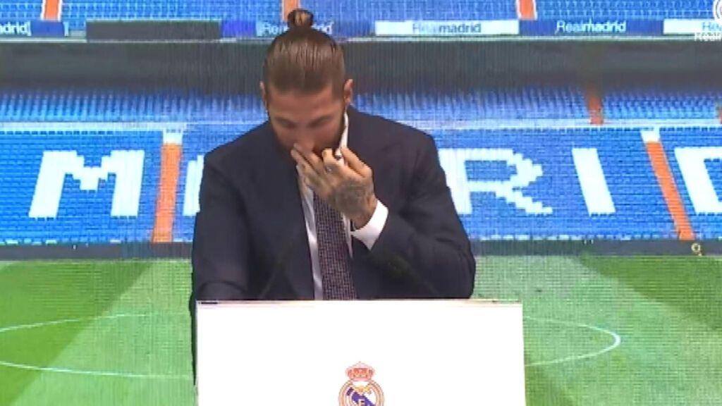 """Sergio Ramos se rompe en su despedida: """"Uno nunca está preparado para decir adiós al Real Madrid"""""""
