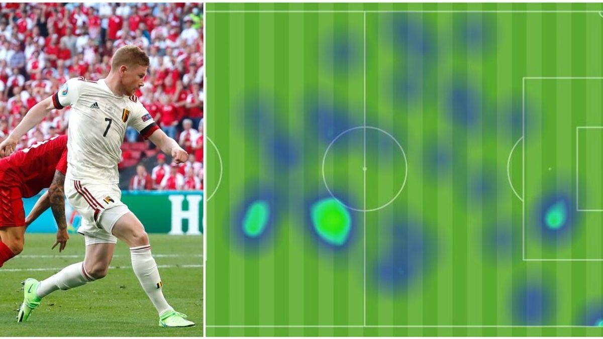 De Bruyne, el mejor de Bélgica: asistencia, gol y 74% de efectividad en pases