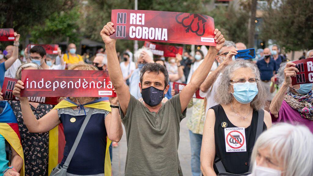 Concentración de la Asamblea Nacional Catalana contra la visita de Felipe VI a Barcelona.