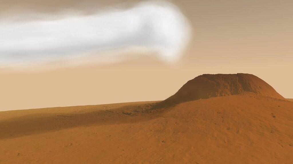 Recreación nube gigante de Marte