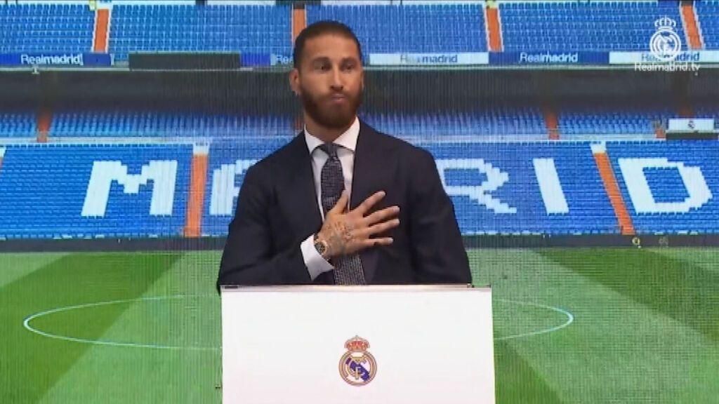 Sergio Ramos, emocionado en su despedida