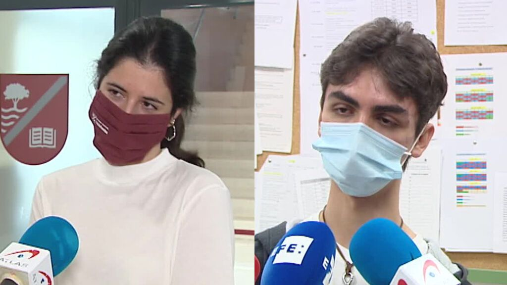 María Añibarro y Roberto Mulas, las mejores notas de la EBAU en Madrid