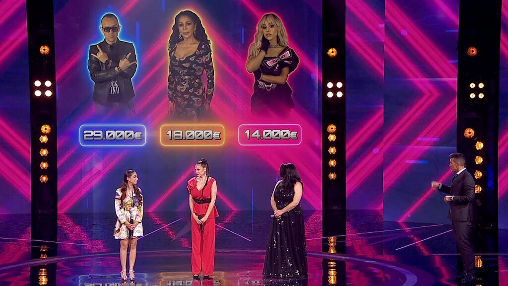 Las actuaciones de la ronda final: Carmen, Angélica y Mila