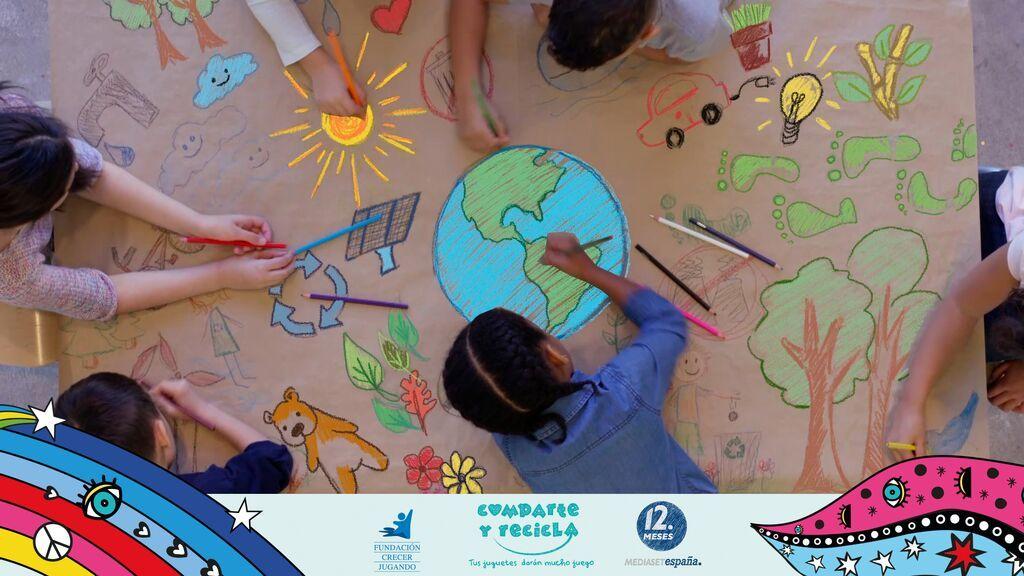 Mediaset España a través de 12 Meses se suma por segundo año a 'Comparte y Recicla', la mayor recogida de juguetes a nivel nacional para su reciclaje y donación a niños en riesgo de exclusión social