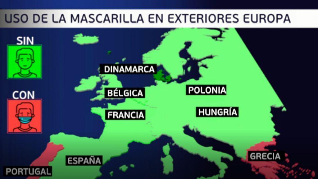 Qué países en Europa usan mascarilla y cuáles no