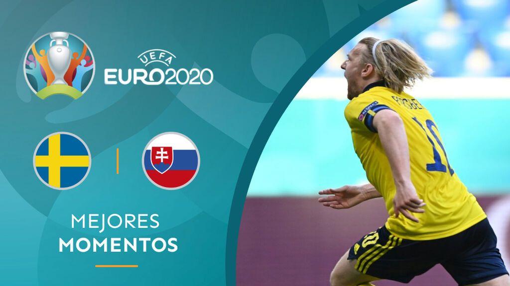 Forsberg le da la victoria a Suecia desde los once metros: Eslovaquia se la jugará ante España (1-0)