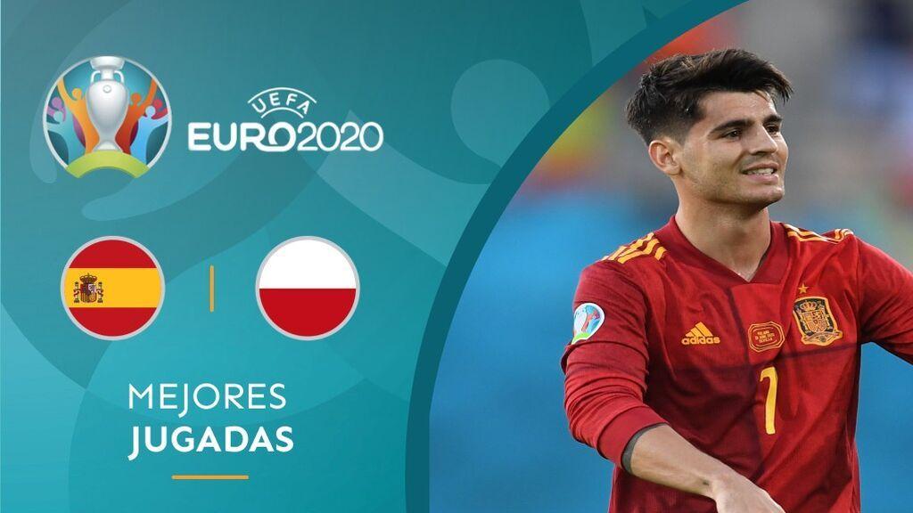 Morata se reconcilia con La Cartuja y adelanta a España tras una conexión con Gerard Moreno (1-0)