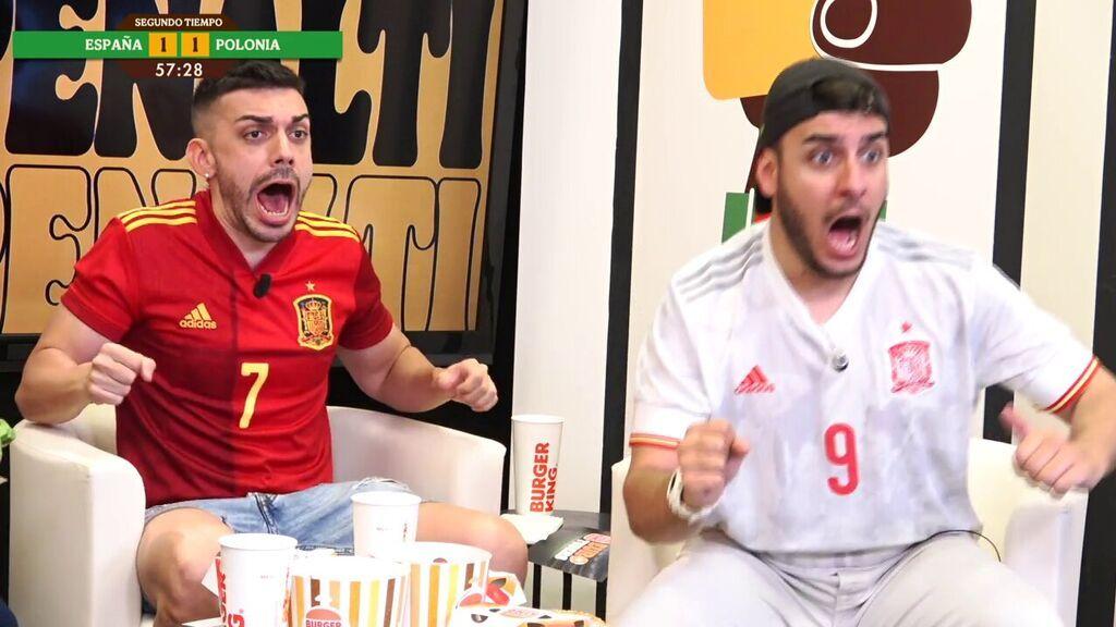 Reacción de nuestros influencers ante el gol de Polonia y el penalti fallado de Gerard Moreno